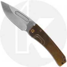 Medford Slim Midi - Tumbled S35VN Drop Point - Bronze Anodized Titanium Handle - Frame Lock Folder - USA Made