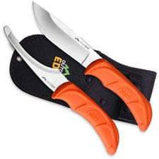 Outdoor Edge JaegerPair - JR-1C - Skinning and Gutting Knife Combo - Orange TPR - Black Sheath