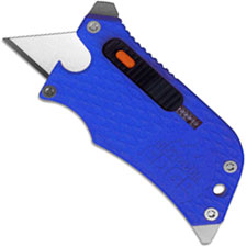Outdoor Edge SlideWinder - Compact 4 Function Utility Knife Multi Tool - Blue Handle SWU-20C