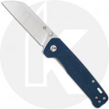 QSP Penguin Knife QS130-H - Satin D2 Sheepfoot - Blue Linen Micarta - Liner Lock Folder