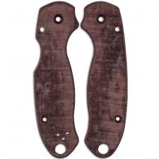 RC BladeWorks Custom Micarta Scales for Spyderco Para 3 Knife - Maroon - USA Made
