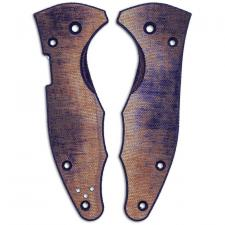 RC BladeWorks Custom Micarta Scales for Spyderco Yojimbo 2 Knife - Blue / Natural - USA Made