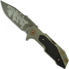 Hinderer Knives Full Track Knife - Spearpoint - Battle Field Pickup - Tri Way Pivot - Black G10