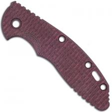 Hinderer Knives XM-18 3.5 Inch Knife - Textured Burgundy Micarta Replacement Handle Scale