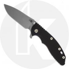 Hinderer Knives XM-18 3.5 Inch Knife - Slicer - Working Finish - 20CV - Tri Way Pivot - Black G-10