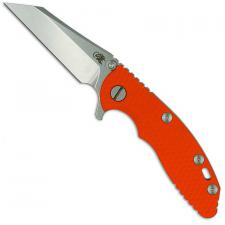 Hinderer Knives XM-18 3 Inch Knife - Gen 6 Wharncliffe - Tri Way Pivot - Stonewash - Orange G-10 Handle