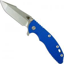 Hinderer Knives XM-18 3.5 Inch Knife - Gen 6 Harpoon Spanto - Stonewash - Tri Way Pivot - Blue G-10