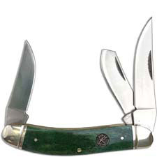 Roper Sowbelly Knife Traditional Pocket Knife Smooth Green Bone Handle RP0010CGB
