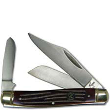 Roper Stockman Knife Traditional Pocket Knife with Tobacco Brown Bone Handle RP0001CTB