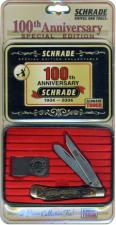Old Timer Gunstock Trapper Knife - A94CPT - Limited Centennial Edition Tin Set - USA Made - OLD NEW STOCK - BNIB