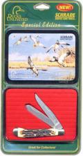 Schrade Ducks Unlimited Tin Set SDU4CPT - 2002 Special Edition - USA Made - DISCONTINUED ITEM - OLD NEW STOCK