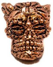 Schmuckatelli Aquilo Sugar Skull Pewter Bead - Antique Copper Finish - AAC