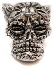 Schmuckatelli Aquilo Sugar Skull Pewter Bead - Pewter Finish - AP