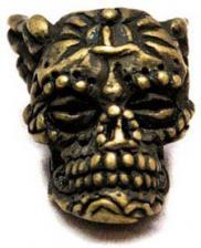 Schmuckatelli Aquilo Sugar Skull Pewter Bead - Roman Brass Oxidized Finish - ARBO