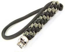 Schmuckatelli Lanyard - Classic Pewter Bead - Pewter Finish - Black and Digi Camo Cord - 4.A-CBLBDCP