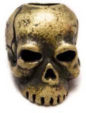 Schmuckatelli Classic Pewter Bead - Roman Brass Oxidized Finish - CRBO