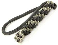 Schmuckatelli Lanyard - Cyber Pewter Bead - Pewter Finish - Black and Digi Camo Cord - 4.A-CYBLBDCP