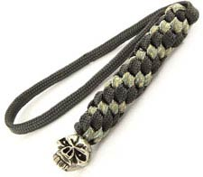 Schmuckatelli Lanyard - Emerson Pewter Bead - Pewter Finish - Black and Digi Camo Cord - 4.A-EBLBDCP