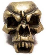 Schmuckatelli Fang Pewter Bead - Roman Brass Oxidized Finish - FRBO