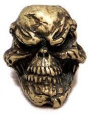 Schmuckatelli Grins Pewter Bead - Roman Brass Oxidized Finish - GRBO