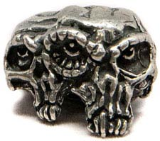 Schmuckatelli Gemini Twins Pewter Bead - Pewter Finish - GTP