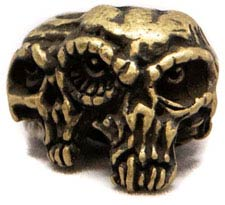 Schmuckatelli Gemini Twins Pewter Bead - Roman Brass Oxidized Finish - GTRBO