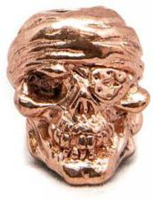 Schmuckatelli One Eyed Jack Pewter Bead - Antique Copper Finish - OJAC
