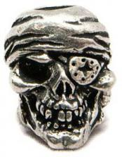Schmuckatelli One Eyed Jack Pewter Bead - Pewter Finish - OJP