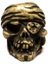 Schmuckatelli One Eyed Jack Pewter Bead - Roman Brass Oxidized Finish - OJRBO