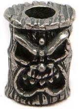 Schmuckatelli Ona Tiki Pewter Bead - Pewter Finish - OP