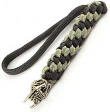 Schmuckatelli Lanyard - Sabretooth Pewter Bead - Pewter Finish - Black and Digi Camo Cord - 4.A-STBLBDCP