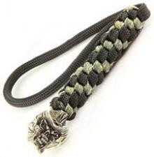 Schmuckatelli Lanyard - Vinnie Garoon Pewter Bead - Pewter Finish - Black and Digi Camo Cord - 4.A-VGBLBDCP
