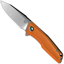 Stedemon ZKC C02D03 EDC Flipper Folding Knife Satin Clip Point Orange G10