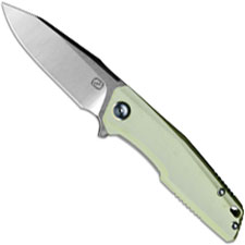 Stedemon ZKC C02D05 EDC Flipper Folding Knife Satin Clip Point Jade G10