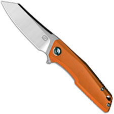 Stedemon ZKC C02T03 EDC Flipper Folding Knife Satin Reverse Tanto Orange G10