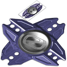Stedemon Z02X Hand Spinner Fidget Toy Stress Reliever Z02XBLU Purplish Blue Titanium