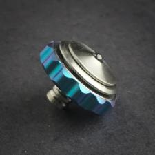 Stedemon Z03BLU Finger Fidget Spinner Top Stress Reliever Blue and Satin Titanium