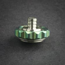 Stedemon Z03GRN Finger Fidget Spinner Top Stress Reliever Green and Satin Titanium