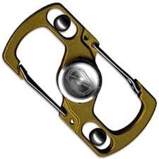 Stedemon Z05GLD Key Chain Lock Fidget Spinner Stress Reliever Gold Titanium
