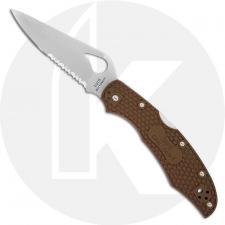Spyderco Byrd Cara Cara 2 BY03PSBN2 Knife Value Price EDC Part Serrated Lock Back Folder Brown FRN
