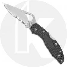 Spyderco Byrd Meadowlark 2 BY04PSGY2 Knife Value Price EDC Part Serrated Lock Back Folder Gray FRN