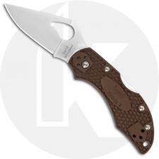 Spyderco Byrd Robin 2 BY10PBN2 Knife Value Price EDC Lock Back Folder Brown FRN