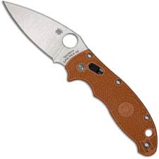 Spyderco Manix 2 Lightweight C101PBORE2 - REX 45 Blade - Burnt Orange FRCP Handle - Sprint Run - USA Made