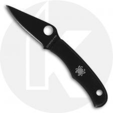 Spyderco Bug Slip Joint Knife - C133BKP - Black 3Cr13 Drop Point - Black Stainless Steel - Key Ring Hole