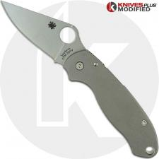 Spyderco Para 3 Knife & KP Titanium Scales - Installed FREE