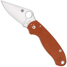 Spyderco Para 3 C223GPBORE CPM REX 45 Sprint Run Burnt Orange G10 USA Made