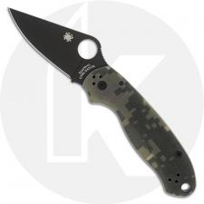 Spyderco C223GPCMOBK Para 3 Folding Knife Compression Lock Black Blade Camo G10 USA Made
