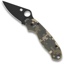 Spyderco C223GPCMOBK Para 3 Folding Knife Compression Lock Black Blade Camo G10 USA Made