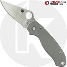 Spyderco Para3 S110V Knife & Flytanium Titanium Scales - Installed FREE