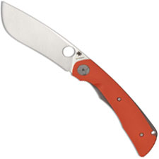 Spyderco Subvert C239GPOR Nati Amor Modified Drop Point Ti and Orange G10 Liner Lock Folder